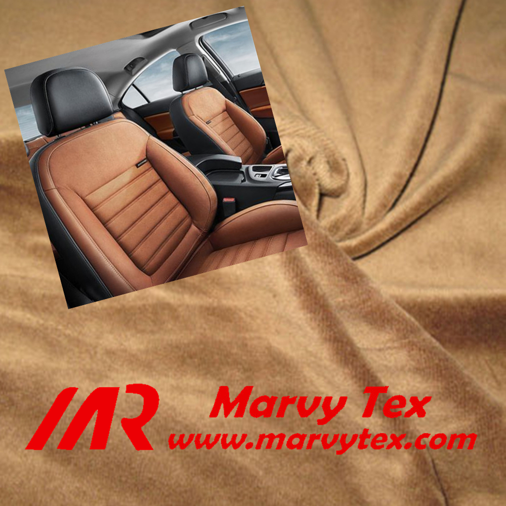 polyester tricot brushed velvet car seat fabric export to England