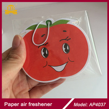 Apple fragrance cute 2mm cotton paper hanging paper air freshener/car perfume