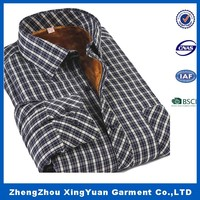 Men's long sleeve padded quilted flannel shirt yarn dyed flannel shirts