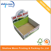 Custom design print paper display box carton box corrugated packaging box