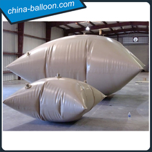 Grey color collapsible water tank/ Eco-friendly PVC water bladder tank for sale