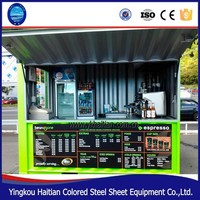 Kiosk,camp,Villa,Booth,House,Hotel,Toilet,Shop,Office Use and Steel Material living container cabin