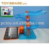 New solar track toy plastic roller coaster set
