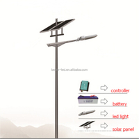 Bridgelux chip 3 years warranty solar led street light single crystalline silicon solar cell