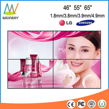 ultra narrow bezel 46 inch 2x2 LG/samsung LCD video wall with controller