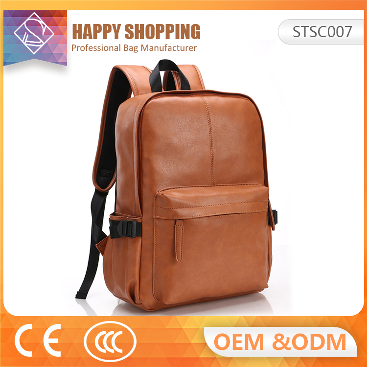New Mens Faux Leather Backpack School Bag Campus Vintage Backpack