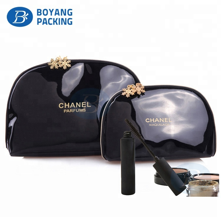 OEM Wholesale luxury Black sublimation Travel leather cosmetic bag pouch