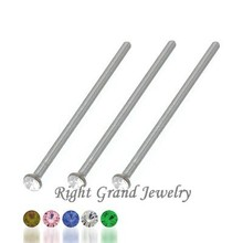 316L Steel Nose Studs Long Length Indian Free Nose Rings Wholesale