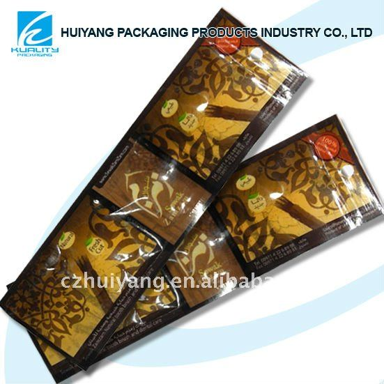 Plastic pouch printing bag for toothbrush packaging