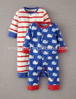 loose and solid print twins pack rompers for baby