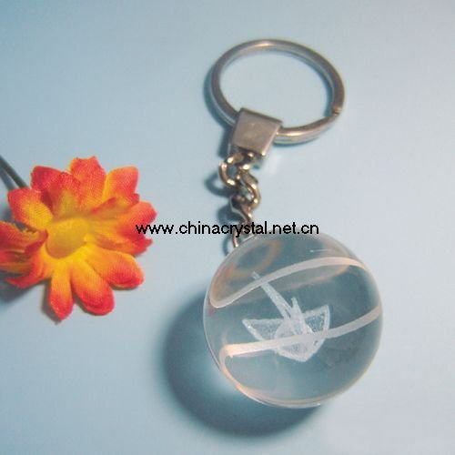 round ball shaped crystal keychains