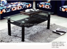 F-3 Modern Coffee Table Black Tempered Glass Coffee Table/High Quality Home Furniture Glossy Glass Coffee Table