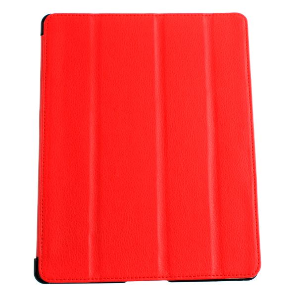 Big Sales Protective PU Leather Smart Case Magnetic Cover Foldable Stand for Apple iPad 2/3 New iPad Red