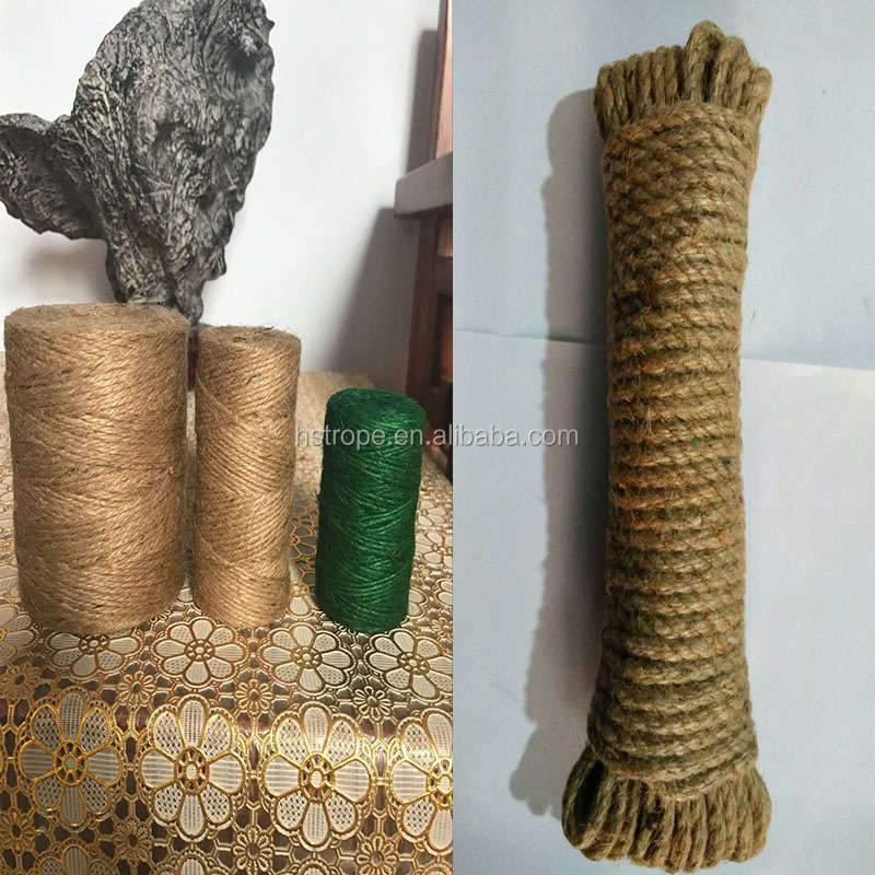 pp eight stand rope brown twine cotton rope jute rope