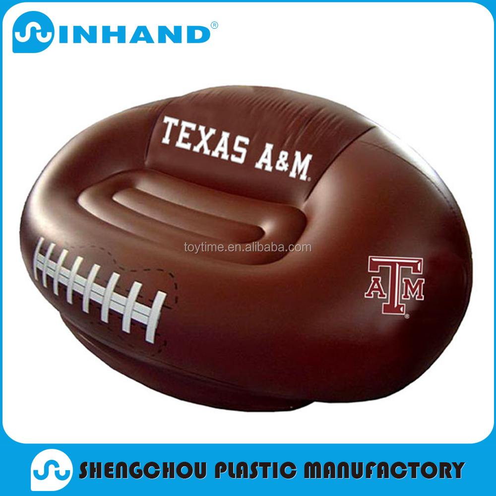 hot sale pvc inflatable sofa chair, Home furniture football shape promotional round sofa