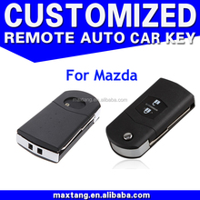 New Uncut Remote Head Key Shell Case Car Keys Blank Case 2 Buttons Remote Key Shell for Mazda