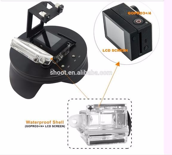 6 inch Waterproof Diving for gopro Dome Port with handheld stabilizer for gopro Hero 3+/4