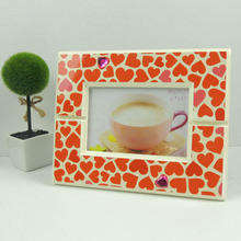 MDF Photo Frames Lacquer Picture Frames with Rhinestones