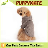 Polyester/Cotton Basic Dog Hoodie, Plain color Dog clothes