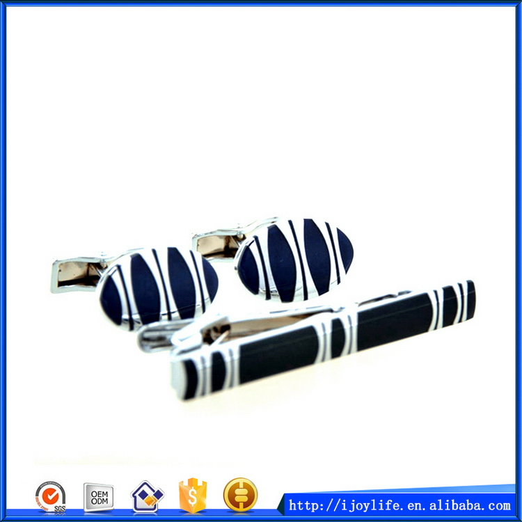 Excellent quality hot sell cufflink tie clip lapel pin set