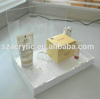 hot sale cosmetics shop counter top acrylic display stand