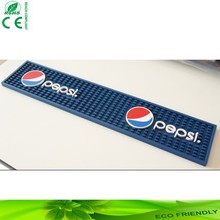 High quality custom soft pvc bar counter mats with logo printed