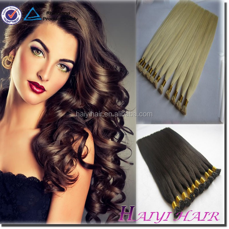 Pre Bonded Human Hair Extensions 20 inches Non Remy Real Hair flat Tip Extensions 1g Stick I Tip Hair