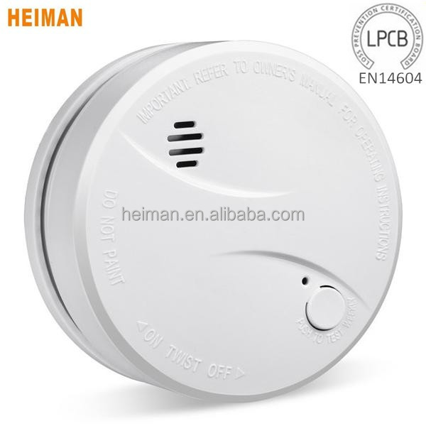 LPCB EN14604 Certified 10-Year Battery Operated Standalone Smoke Detector