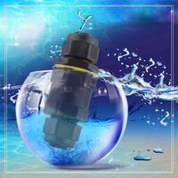 ip67 waterproof male female plastic electrical wire underwater screw fixing cable connector