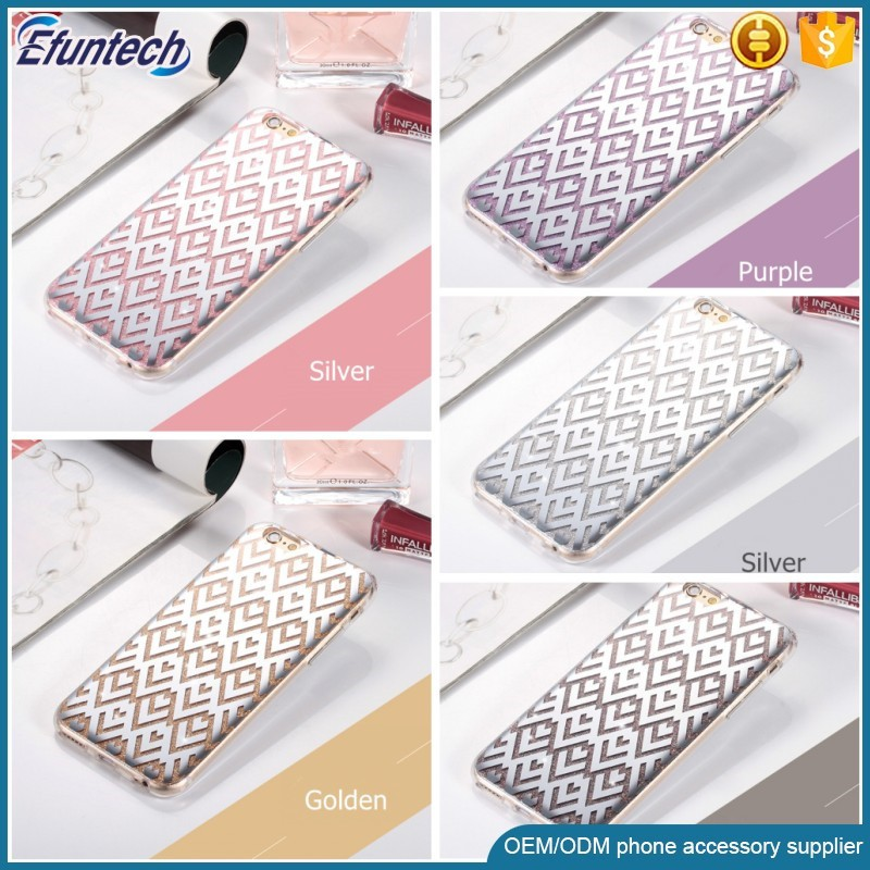 Luxury IMD TPU Rhombus design shining glitter mobile phone case for iphone 7 7plus