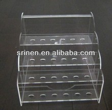 Customized Design 4 Tiers Clear Acrylic Lipstick Holder