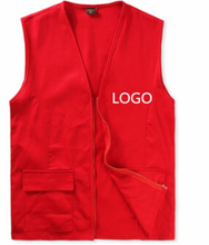 work vest unisex sleeveless jacket 017 OEM men waistcoat Volunteer cheap free sample vest