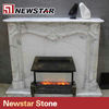 Newstar good price like marble electric fireplace wall mounted