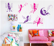 Home decor fairy sticker PVC wall sticker 2017 eco-friendly dream your dream give unique magic