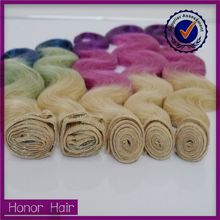 Soprano wholesale 100 human hair, dyeable cheap ombre peruvian body wave hair