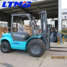 LTMA brand new 3 ton diesel engine forklift 2wd ATV rough terrain forklift with side shift