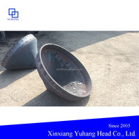Conical head without flared necks for gasification furnace
