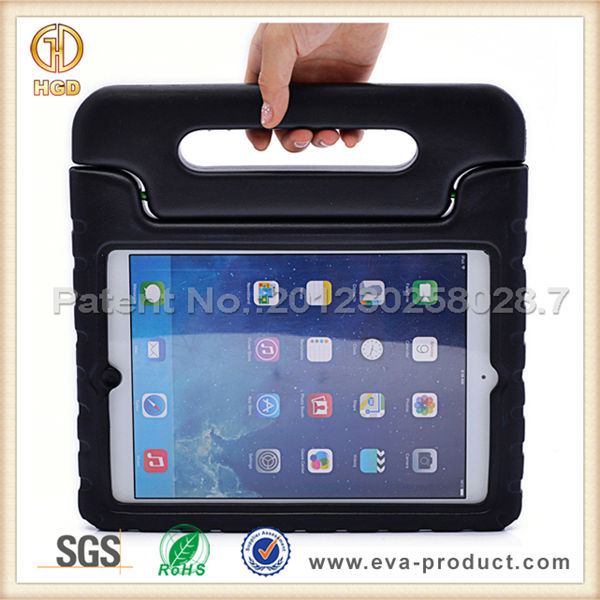 Kids Safe shock proof black foam EVA case for apple ipad air