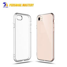 Custom print logo tpu transparent mobile phone case for iphone 7