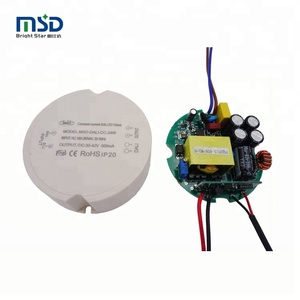 16W 240ma 800ma led driver for DALI dimming system with 5 years warranty IP40 round case 10 watts 50 watt led tube driver