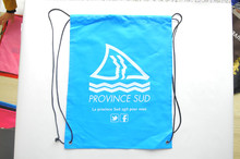 Customize Polyster Drawstring Bag With Sailing Boat Logo