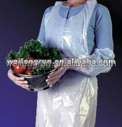 Pack of bag it Plastics White Disposable Polythene Aprons with Halter Neck 500