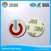 Self Adhesive 13.56 mhz paper nfc sticker with QR code and logo printing