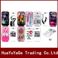 Luxury Colorful Pattern Soft TPU phone cases cover for Samsung Galaxy S3 i9300