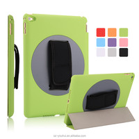 Wholesale Handheld 360 Degree Rotating Smart Magnetic Flip Cover Leather Case for iPad Air 2