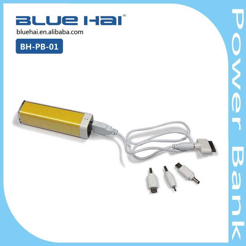 OEM Portable Mobile Power Bank, Lipstick Promotional Power Bank 2000mah Mobile Cell Phone Charger Guangdong