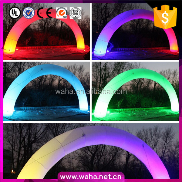 Customized inflatable lighting arch , inflatable rainbow arch C-0013