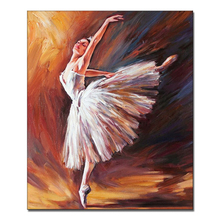 Hotel wall art decoration impressionist style nude woman body painting of ballet dancer