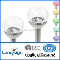 XLTD-721A zhejiang manufacturer factory sales outdoor led light ball changing garden solar led light