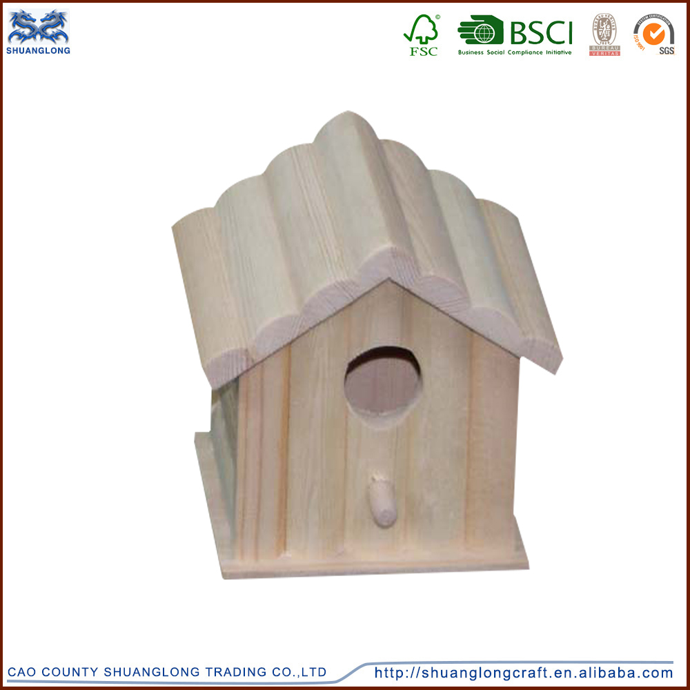 Art minds wooden crafts birdhouse wholesale , mini wooden birdhouse for christmas decoration